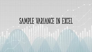 how to calculate sample variance in excel