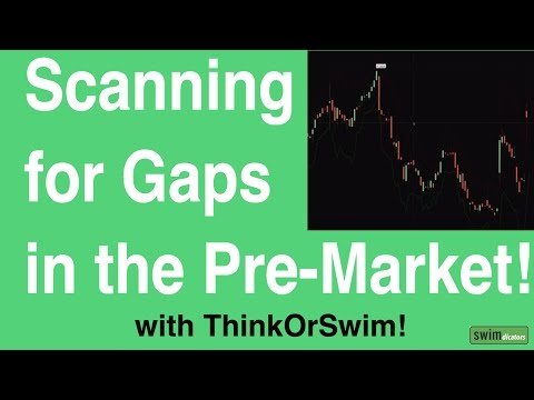 Scanning for Gaps in the Pre-Market with ThinkOrSwim - YouTube