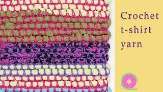 Crochet t-shirt yarn for a rug, bag or cushion