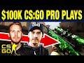 Top 10 CS:GO $100k Pro Plays