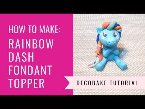 How To Make Rainbow Dash Fondant Topper