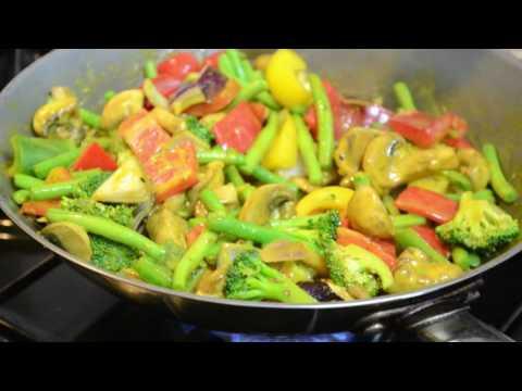 Coconut veggie curry stir fry