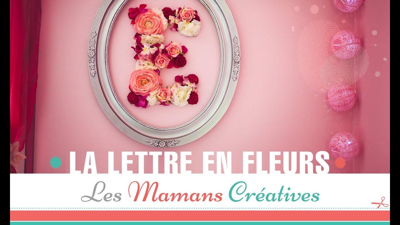 DIY / TUTO DÉCO CHAMBRE BÉBÉ FILLE : Réalisez une lettre en fleurs.