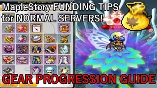 MapleStory NORMAL SERVER Funding Tips Ep.3: Gear To Aim For In Mid/End Game Progression!
