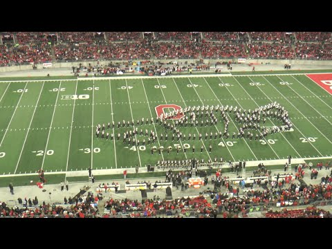 "Ohio State Marching Band ""Back to the Future"" Halftime Show vs Minnesota 1172015"