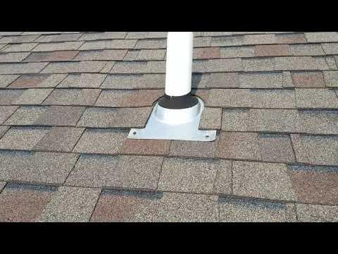 Plumbing flashing, DIY Roof Repair. Simple roof repair. Plumbing vent