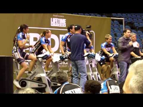 World Record Spinning Indoor Cycling Class set by Life Time Fitness 1052 Participants