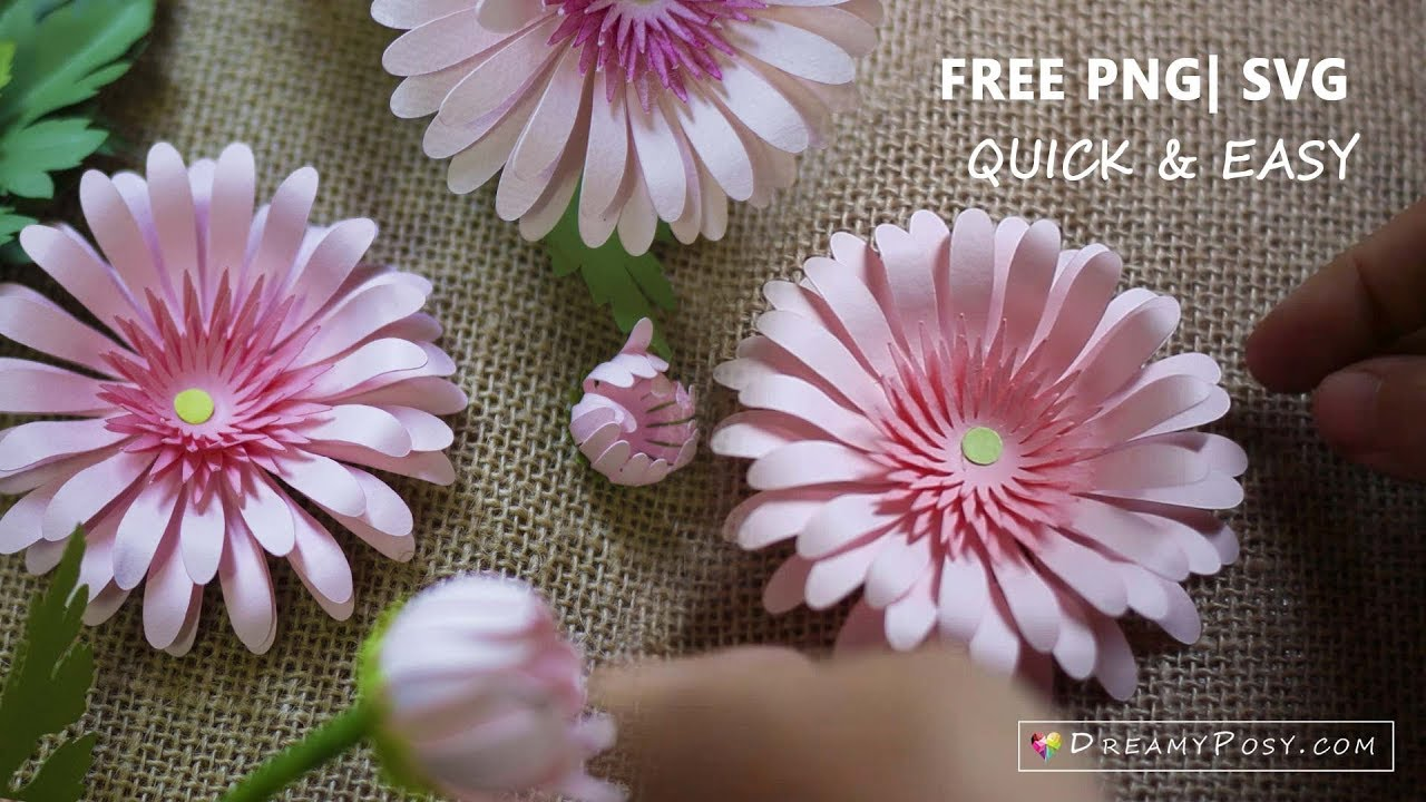Paper Flowers Diy Tutorial Free Templates Youtube