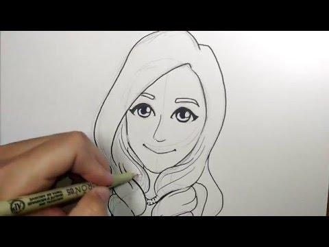 สอนวาดรูป การ์ตูน แป้ง Z bingz วาดการ์ตูน กันเถอะ