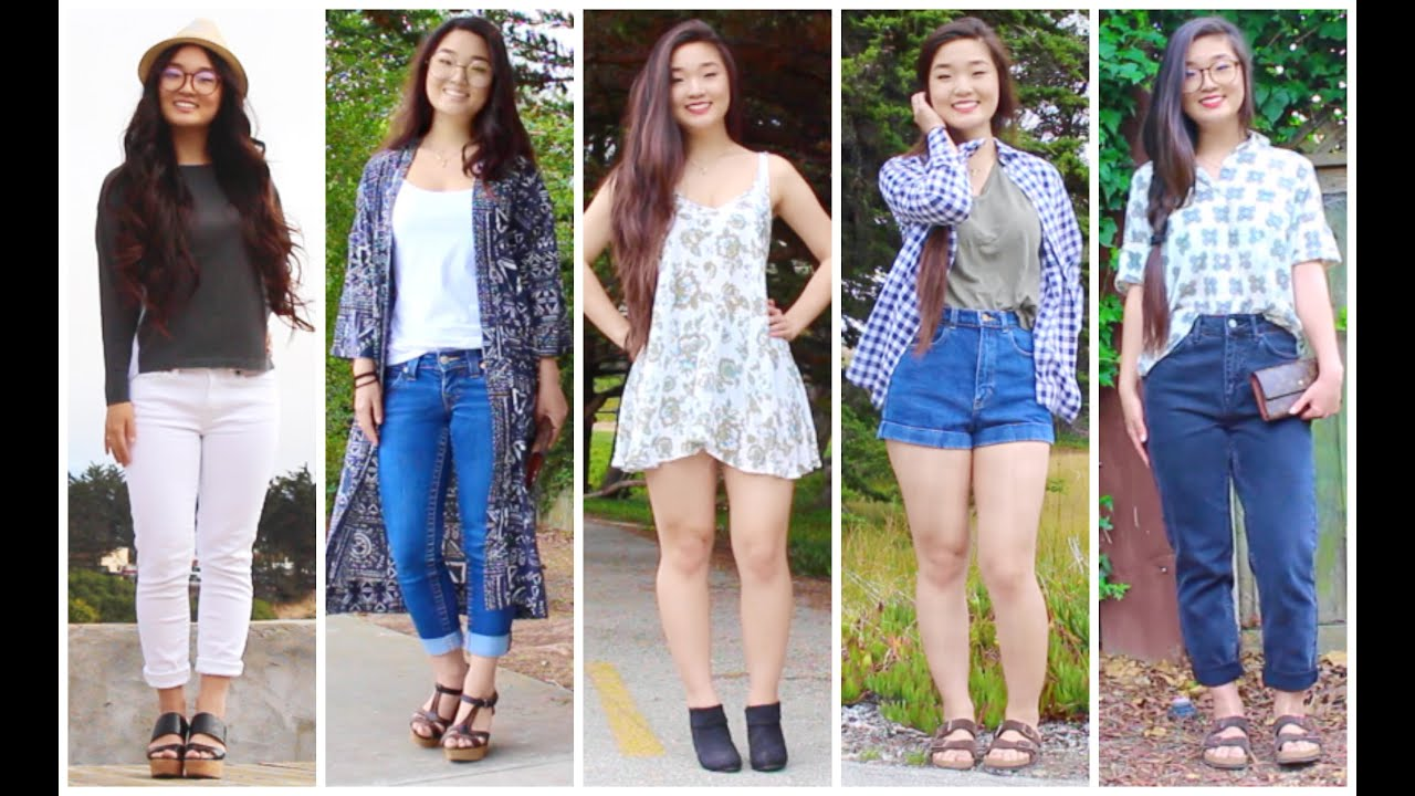 2015 Summer Outfits Simple yet... - YouTube