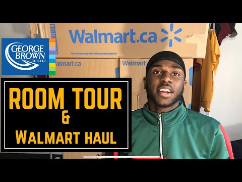 Room Tour   Walmart Haul   George Brown Residence   Jayquion