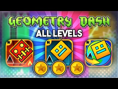 ALL LEVELS | Geometry Dash 2.1 + Meltdown + World (All Coins) | GuitarHeroStyles