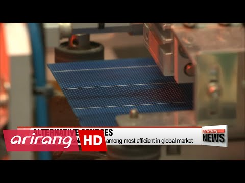 Korea turns to solar modules and marine plants for alternative energy source