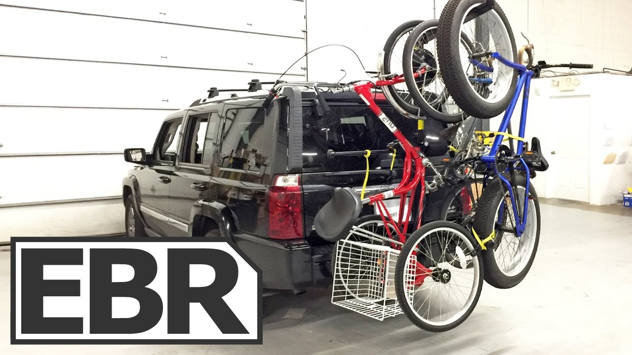 Vehicle Bicycle Rack Totem Pole TP6 Vertical Hanging Bike Rack Review - Carry 6 Bikes on Your Car!  Up Right Designs