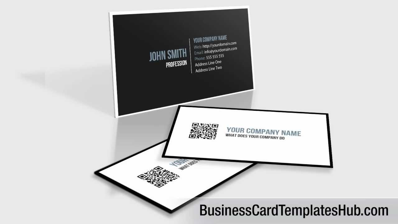 Elegant black and white qr code business card template youtube elegant black and white qr code business card template flashek Images