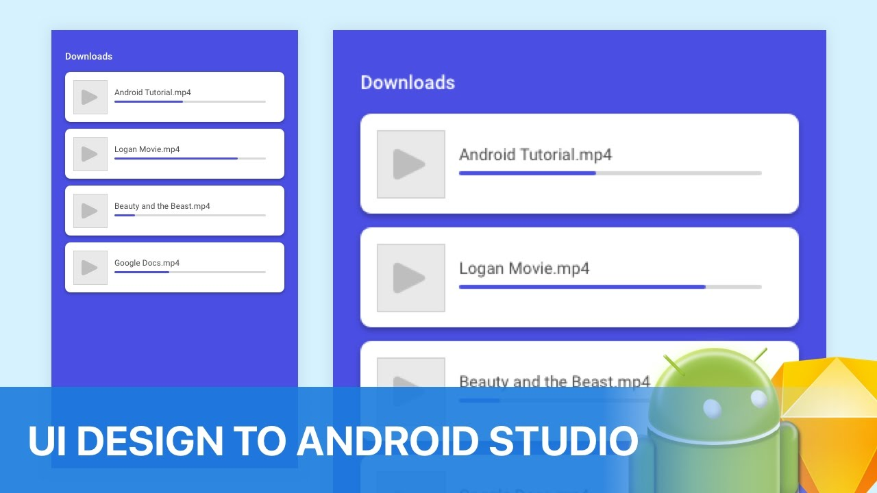 Animation Download UI Design to Android Studio Tutorial - YouTube