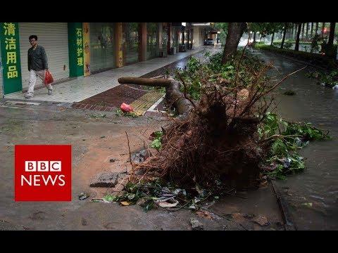 Typhoon wreaks havoc on Philippine town - BBC News