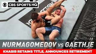 UFC 254 Recap: Khabib stops Justin Gaethje to retain title, announces retirement | CBS Sports HQ