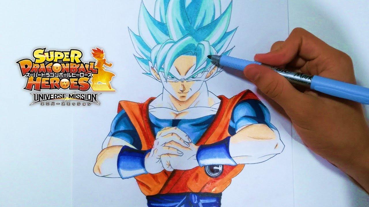 Como Dibujar A Goku Super Sayayin: Cómo Dibujar A Goku Ssj Blue -How To Draw Goku Super