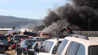 Fire Burning at Salvage Yard Near Somers