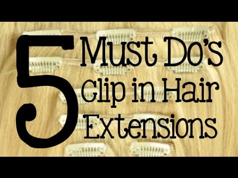 5 must dos how to care for clip in hair extensions instant 5 must dos how to care for clip in hair extensions instant beauty youtube pmusecretfo Choice Image