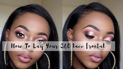 How I Lay My 360 Frontal || Royalty Style Hair Review || South African YouTuber