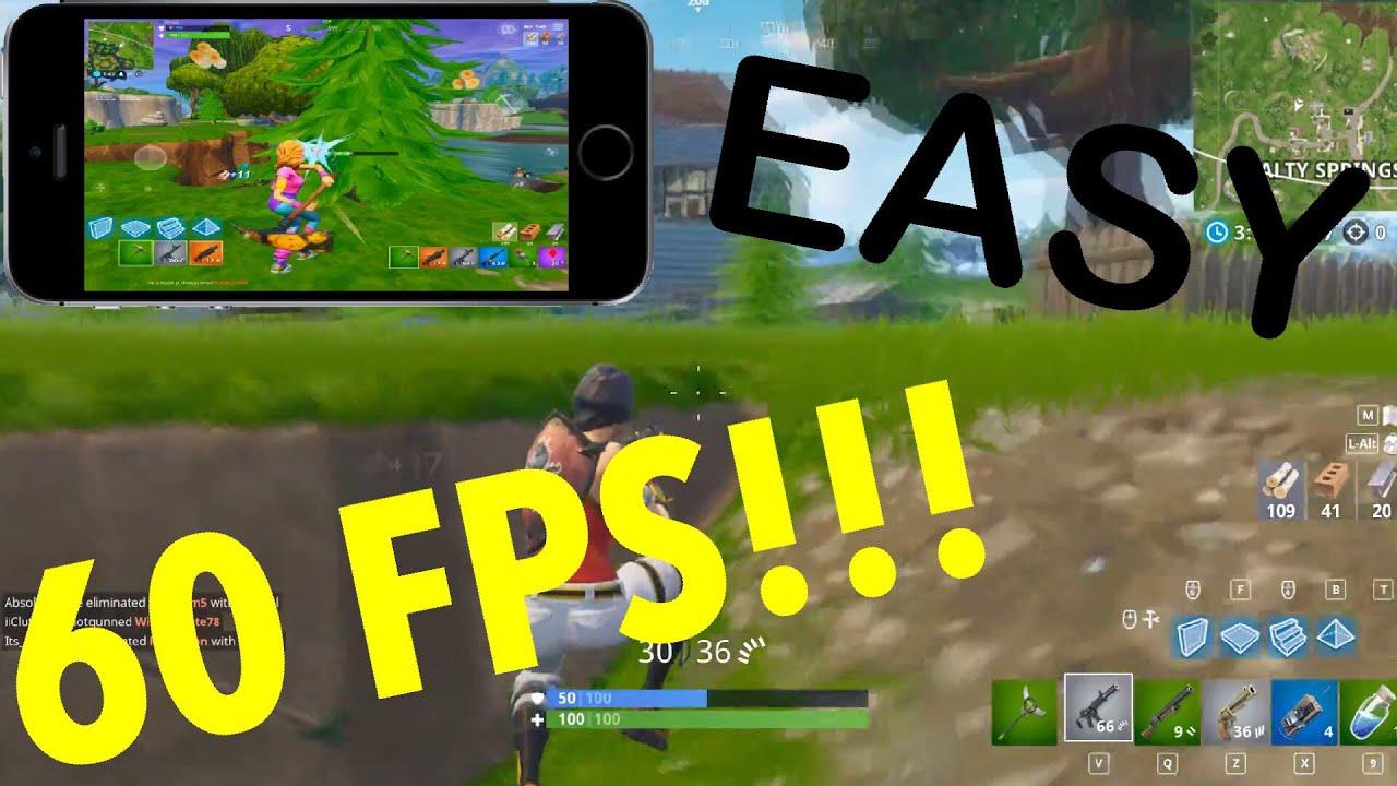 how to get 60 fps in fortnite mobile - fortnite mobile 60fps mod
