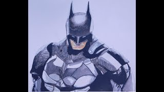 Batman Drawing Time Lapse by Sharif Arts