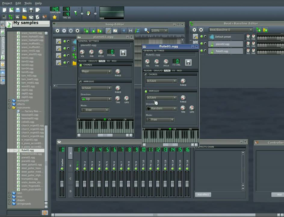 linux multi media studio lmms part 4 midi controllers youtube