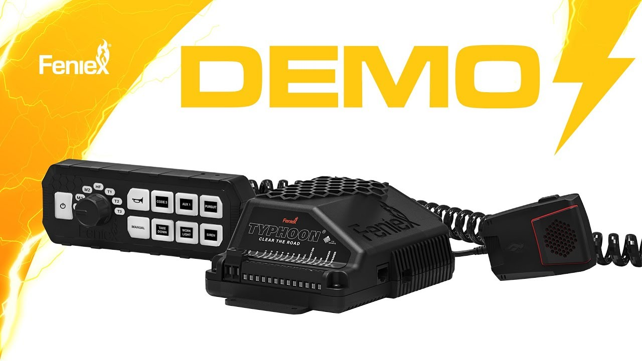 medium resolution of feniex typhoon handheld and full function sirens demo