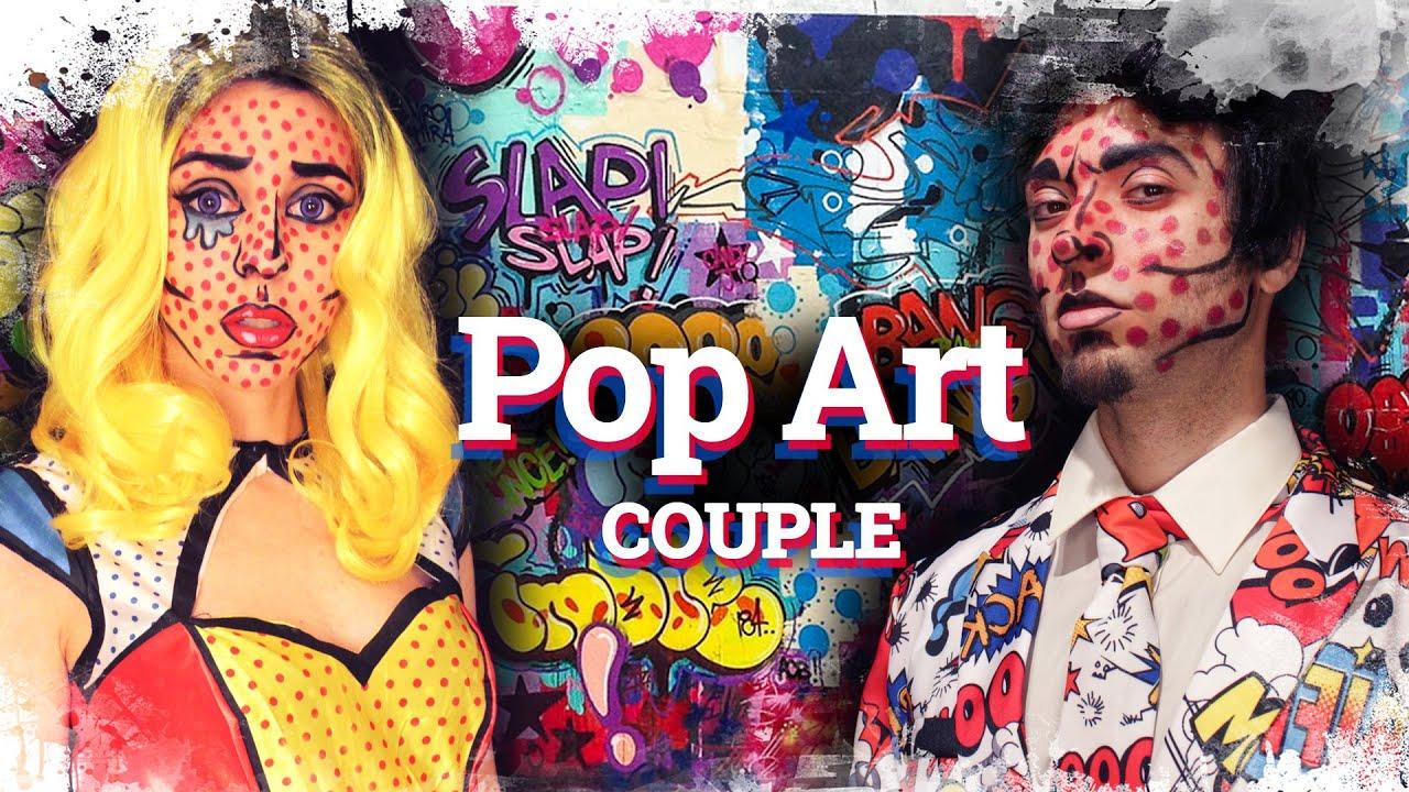 comic book pop art makeup for couples como disfrazarse al estilo pop art. Black Bedroom Furniture Sets. Home Design Ideas