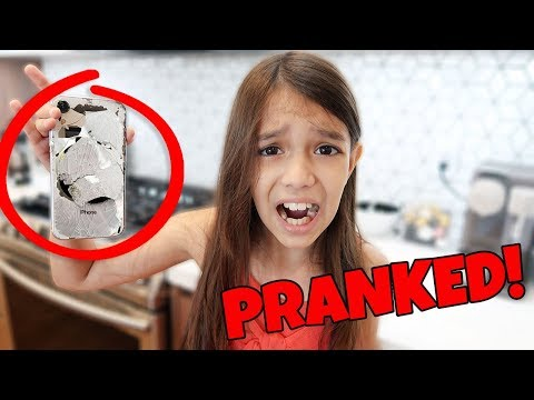 I Destroyed my Sisters NEW iPHONE!   Emily and Evelyn