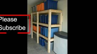 This is a demonstration on building very solid garage shelves using 2 x 4s and OSB boards. I also used 3 inch screws but you may