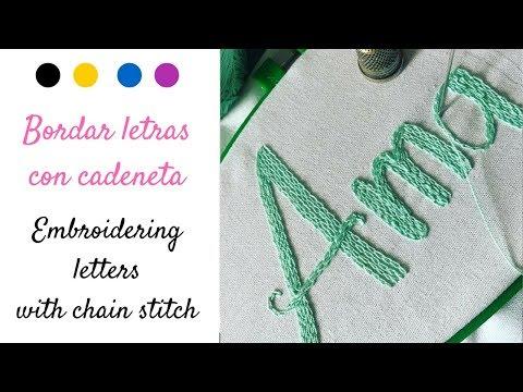 Embroidery chain stitch TUTORIAL