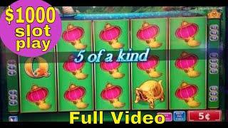 $1000 At China Shores Slot Machine,Worst Bonuses With Max Bet ! Live Slot Play | FULL VIDEO