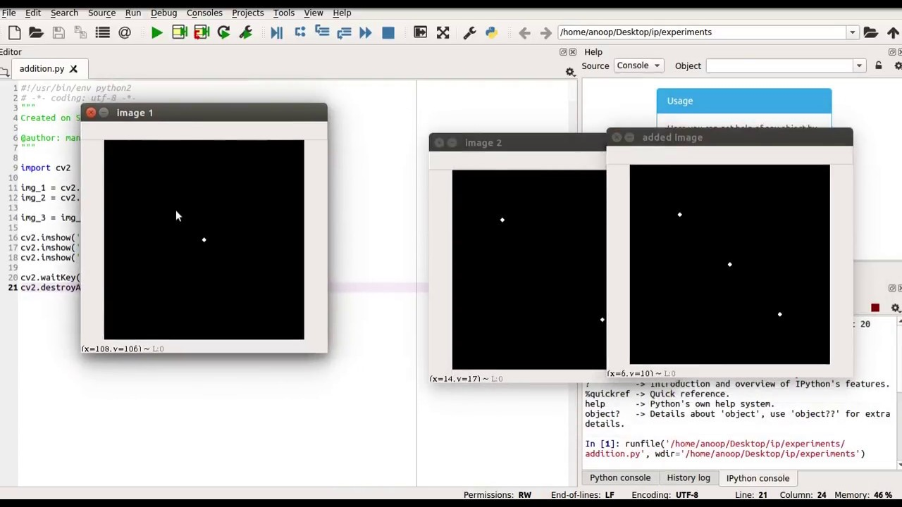 Lecture 4 Image addition and subtraction OpenCV Python