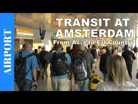 Transfer at Amsterdam Airport Schiphol | Connection Flight at Schiphol Airport | Travel Vlog