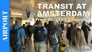TRANSFER at Amsterdam Airport Schiphol - Connection Flight at Schiphol Airport - Air Travel Video
