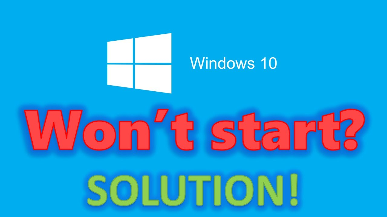 How to fix Windows 10 start-up problems - Blackscreen, Bootloop ...