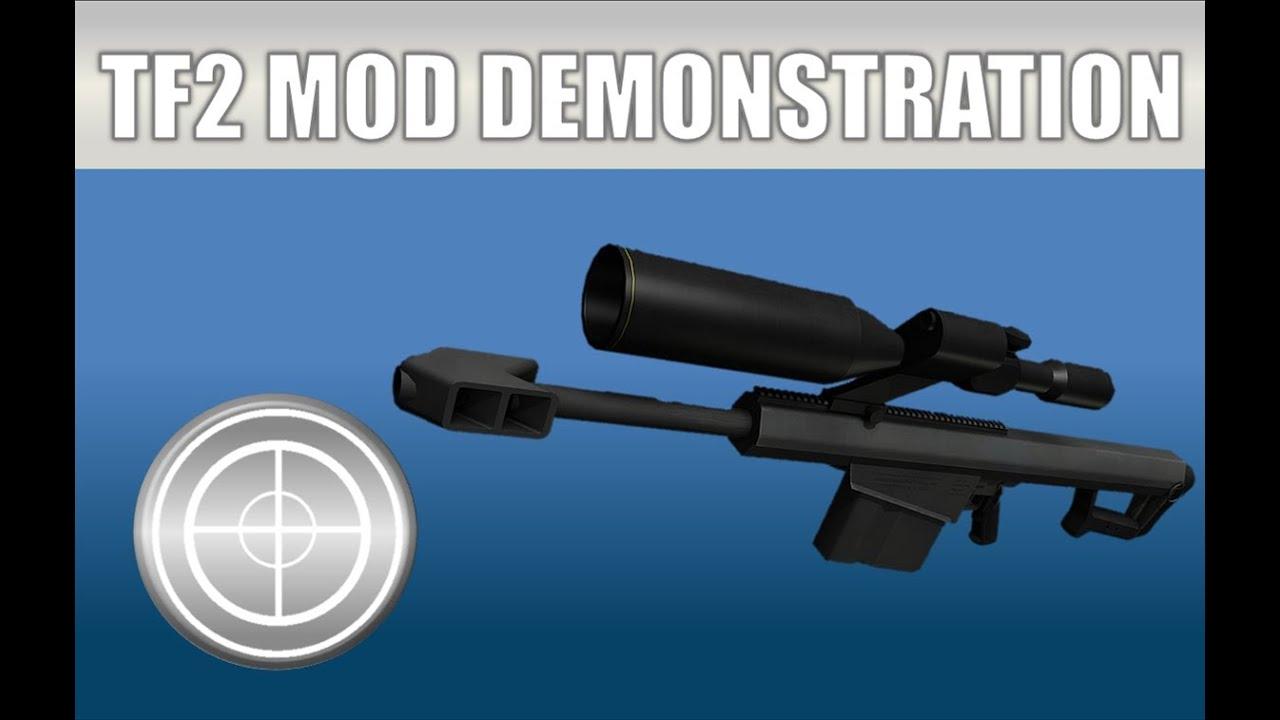 TF2 Mod Weapon Demonstration: sHiBaN's Barrett   FunnyDog TV