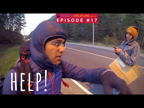 How she helped an Indian! (Toughest evening of Hitchhiking in Russia)