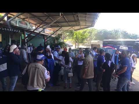 Protesta de Nicas en frontera entre Nicaragua y Costa Rica