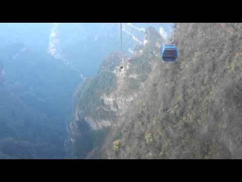 ZhangJiaJie(China)2011 576(Cable car ride from Tian Men San).MOV