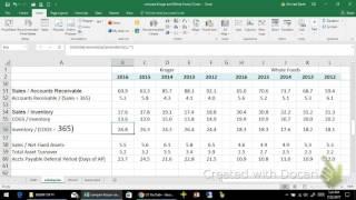 KR and WFM Asset Efficiency Ratios