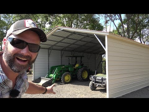 THE BARN IS UP, BUILT IN UNDER 4 HOURS A 26X36 STEEL BUILDING V/S POLE BARN PRO/CONS