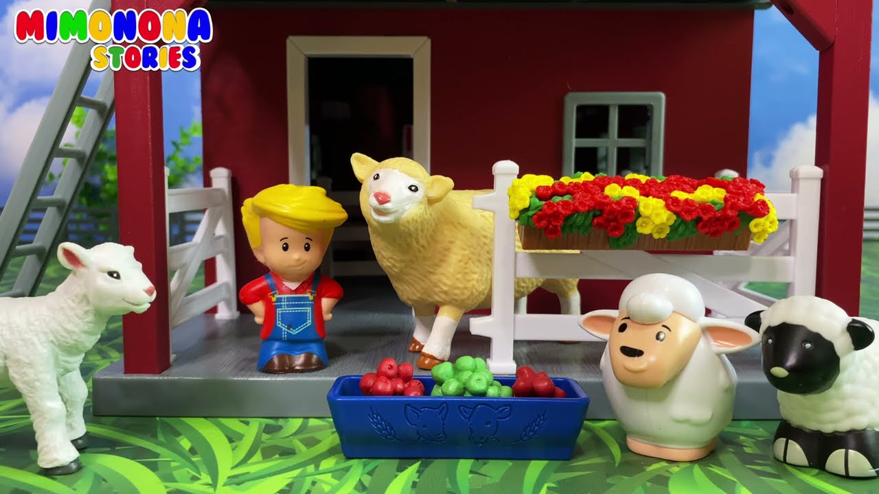 Farm Animal Toys 🐷🐮 Sheeps Horses Pigs Cows Roosters Dogs 🐴🐔 Animal Sounds ✨ Mimonona Stories