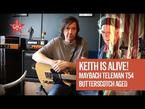 Keith Richards is in the house: Maybach Teleman T54 - Butterscotch Aged (Review and Jam Track)