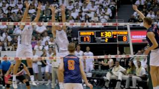 Hawaii Men's Volleyball MPSF Quarterfinal Highlights vs. Pepperdine 4-15-17
