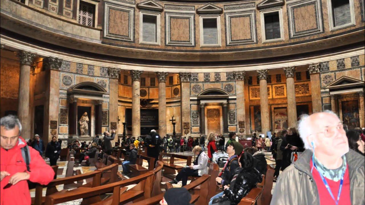 Roma Il Pantheon Interno Youtube