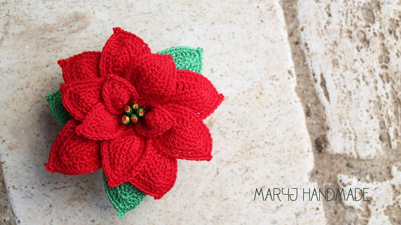 Amigurumi Natale.Maryj Handmade Stella Di Natale All Uncinetto How To Crochet A Poinsettia